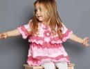 Платье и болеро спицами для маленькой принцессы.
