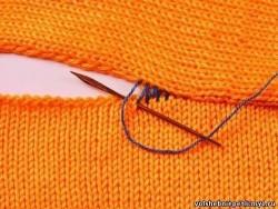 Вязание — соединение долевого и поперечного полотен.