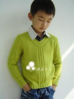 Красивый осенний джемпер для мальчика.