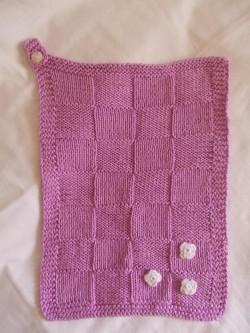 Кухонное полотенце спицами или крючком — мастер класс с пошаговым описанием.