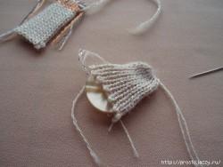 Вязаные пуговицы — как обтянуть пуговицу.