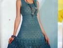 Летнее платье крючком и сумочка к нему- шикарно и легко.
