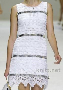 Как связать платье, юбку и жакет крючком от Dolce Gabbana.