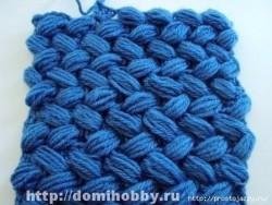 Объемный плетеный узор крючком.