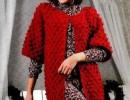 Бордовый жакет крючком. Вязание для женщин жакетов, схема вязания