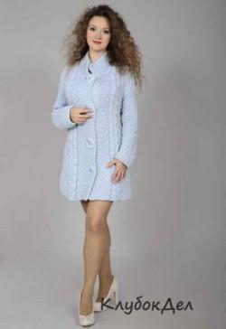 Пальто спицами для женщин