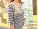 Пуловер с разрезом горловины. Схема, выкройка и описание вязания на спицах