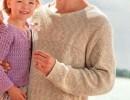 Летний мужской пуловер спицами. Вязание для мужчин пуловеры