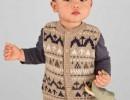 Детский жилет с жаккардовым узором. Схема и описание вязания