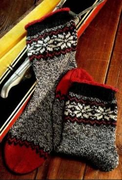 Носки с норвежской каймой