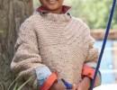 Бежевый пуловер для мальчика, связанный спицами. Схемы и описание вязания