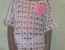 Белая туника для девочки крючком схемы и описание. Мастер-класс вязание туники для детей крючком