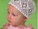 Ажурная шапочка крючком для новорожденного. Шапочка крючком для малыша