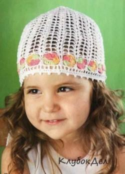 Детская шапочка с каймой. Вязание детской шапки. Вяжем детям