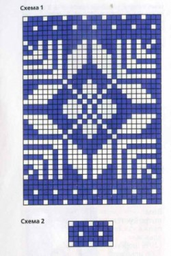 Шапка с орнаментом и митенки спицами схема и описание. Вязание для женщин
