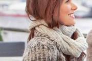 Женский шарф-снуд. Вязание спицами с описанием