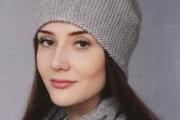 Шапка и шарф-воротник. Вязание спицами для женщин