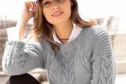 Пуловер с диагональными «косами». Как связать пуловер на спицах, схема и описание для женщин бесплатно