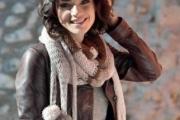 Трехцветный шарф в полоску. Выкройка и вязание шарфа спицами