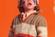 Джемпер с воротником поло для мальчика от 6 месяцев до 4-х лет