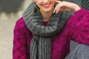 Пуловер и шарф спицами. Вязаный шарф-снуд и пуловер для женщин