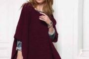Вязаное спицами пончо для женщин, пошаговое описание и выкройка