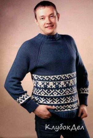 мужской пуловер спицами схемы и описание вязание для мужчин спицами