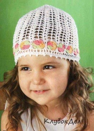 детская шапочка с каймой вязание детской шапки вяжем детям